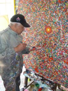 "Maestro ""Noble"" creating the ""Cosmic Vision"" 2009 series."